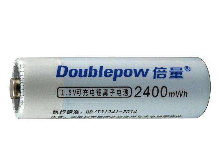 аккумулятор АА Li-Ion micro USB Doublepow 1.5V 2400 mWh