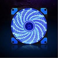 Кулер для корпуса DC Brushless FAN Molex/3pin,120x120x25mm, LED, blue