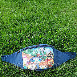 Детская поясная сумка бананка для мальчиков <<Робокар Поли>>