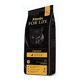 Fitmin cat For Life Chicken / комплексный корм для взрослых кошек Лори 1,8 кг