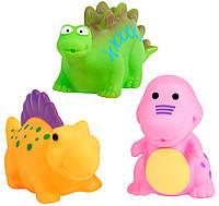 Брызгалки для ванны Динозаврики (розовый тираннозавр), BeBeLino