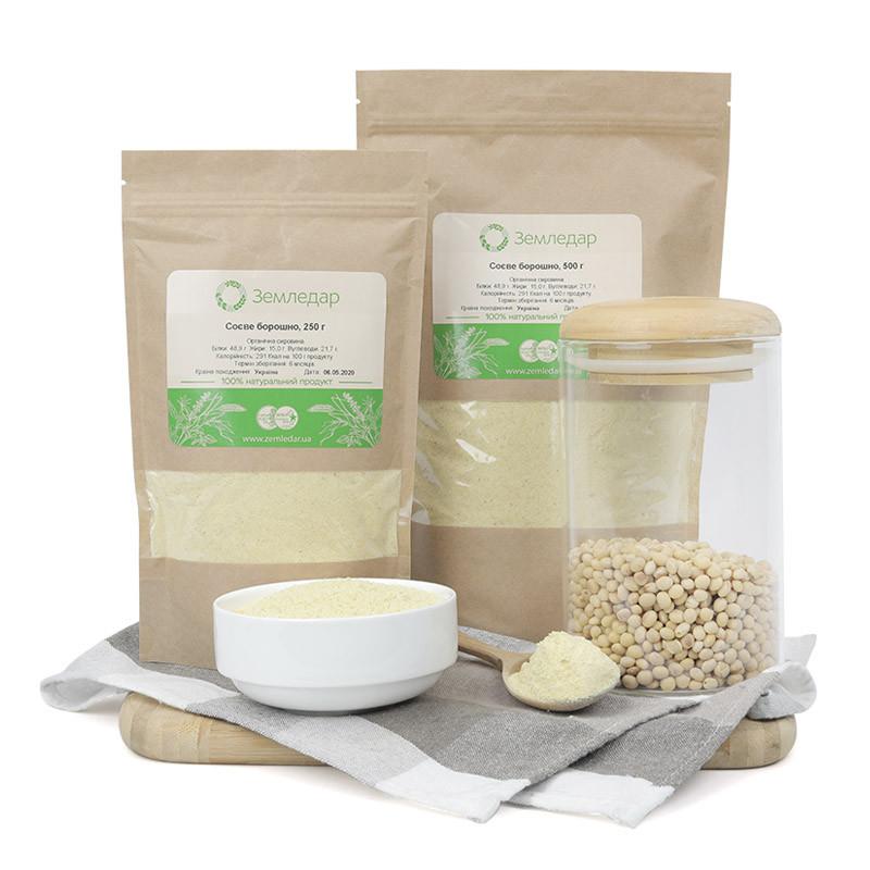 Соевая мука 0,25 кг сертифицированная без ГМО