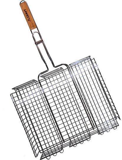 """Решетка для барбекю Kamille """"Скаут"""" глубокая 40х30х7см"""