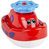 Кораблик-фонтан, игрушка для купания (красный), BeBeLino
