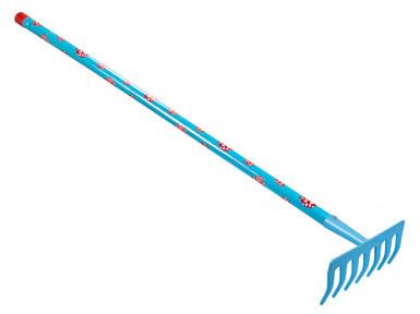 Граблі дитячі блакитні Штокер 7 зубців Kid's Garden (Stocker 2325)