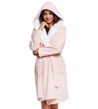Халат женский нежно-розовый (размеры S-XL)