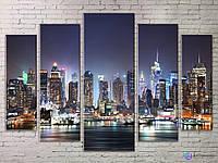 Модульная картина Ночной город ASIT5_0066