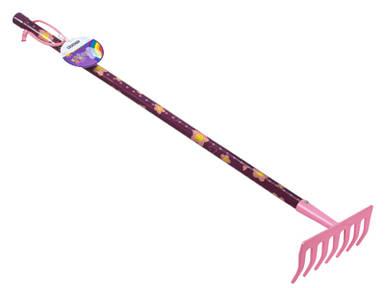 Граблі дитячі рожеві Штокер 7 зубців Kid's Garden (Stocker 2323)