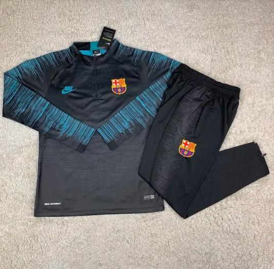 Костюм тренировочный Барселона черный 19-20