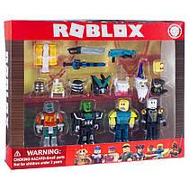 Ігровий набір Roblox 4 фігурки лицарів з аксесуарами (мечі, пістолет, шолом)