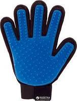 Щетка перчатка для вычесывания шерсти домашних животных True Touch 1 шт