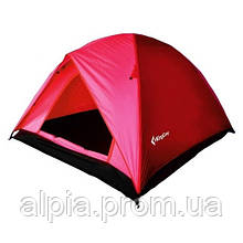 Трехместная палатка KingCamp Family 3 красная