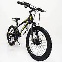 """Стильный спортивный алюминиевый велосипед S300 BLAST-NEW 20"""", рама 11"""", черно-желтый, фото 1"""
