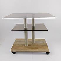 Стол журнальный стеклянный прямоугольный Commus Bravo Light P6 bronza-sequoia-2bgs50, фото 2