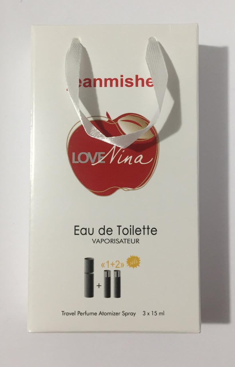 Мини парфюм в подарочной упаковке jeanmishel love Nina 45мл