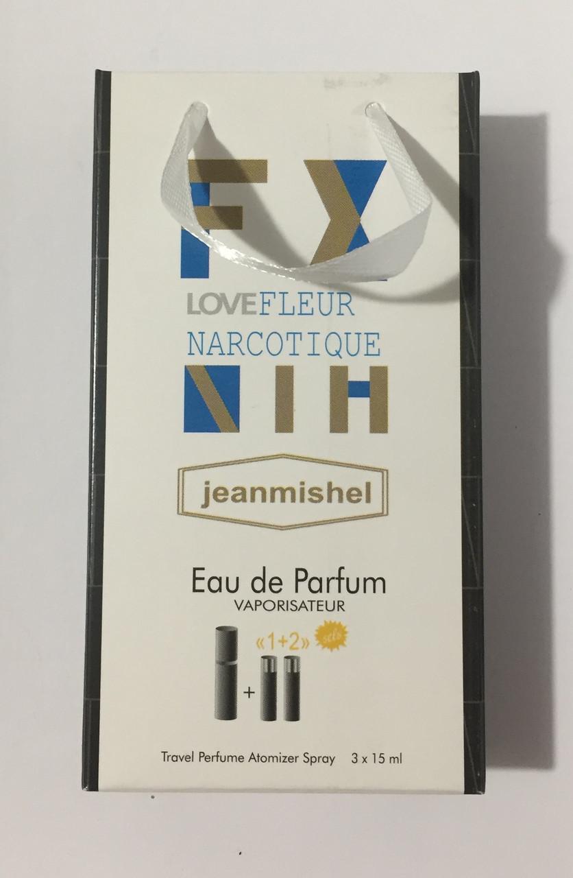 Мини парфюм в подарочной упаковке jeanmishel loveFleur Narcotique 45мл