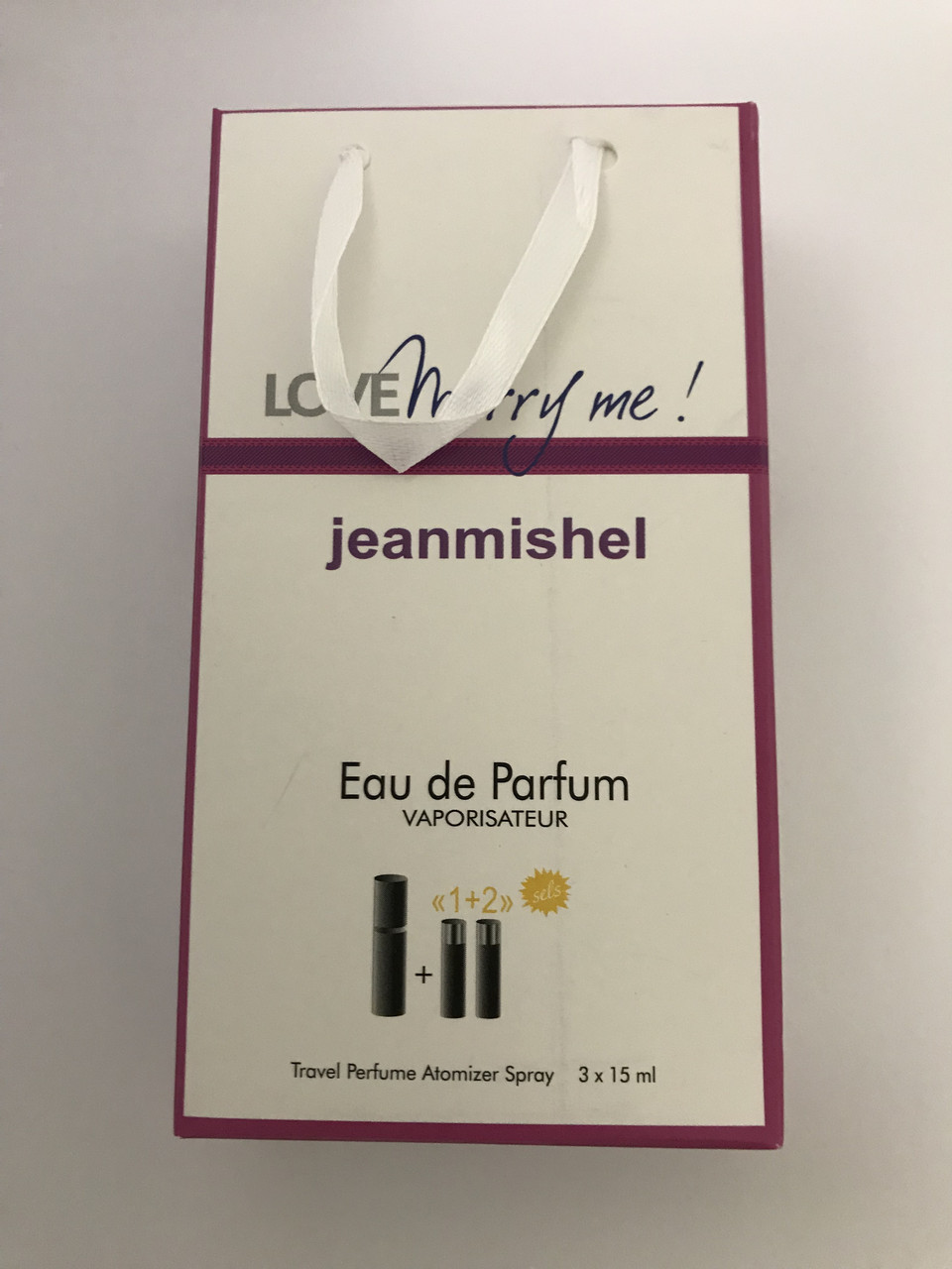 Мини парфюм в подарочной упаковке jeanmishel loveMerri Me 45мл