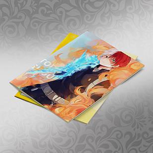 Скетчбук А5 кремовые листы Boku no Hero Academy 30 листов