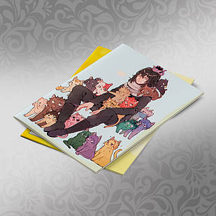Скетчбук А5 кремовые листы Boku no Hero Academy 30 листов 002