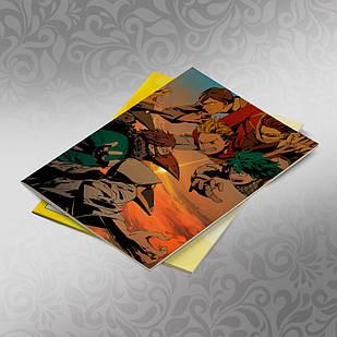 Скетчбук А5 кремовые листы Boku no Hero Academy 30 листов 007