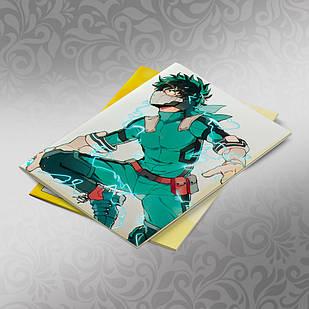 Скетчбук А5 кремовые листы Boku no Hero Academy 30 листов 010