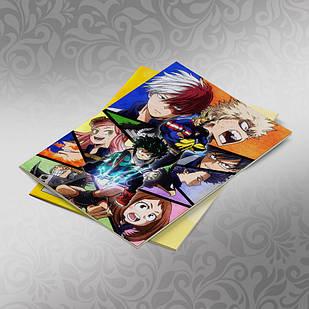 Скетчбук А5 кремовые листы Boku no Hero Academy 30 листов 012