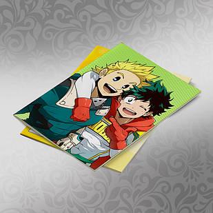 Скетчбук А5 кремовые листы Boku no Hero Academy 30 листов 016