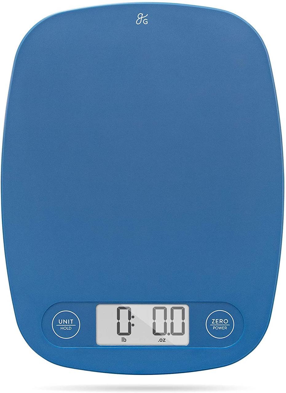 Цыфровые кухонные весы в грамах и унциях | Синие