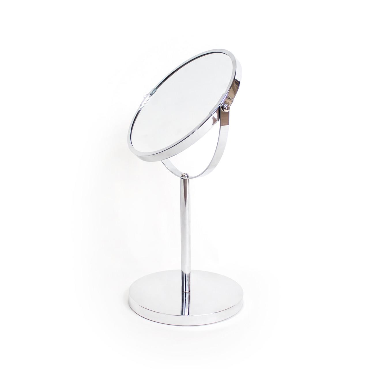 Косметическое зеркало настольное круглое, диаметр 17 см