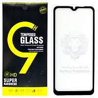 Защитное стекло Full Glue для Realme C2 клей по всей поверхности (Black)