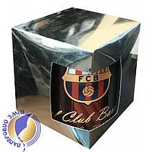 Картонная упаковка для кружек с дизайнерского картона, серебряная