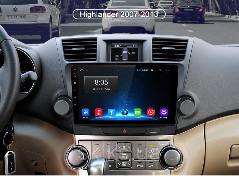 Junsun 4G Android магнитола для Toyota Highlander 2007-2013