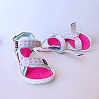 Бирюзовые спортивные сандалии от EeBb девочкам, р. 28, стелька 17,5 см, фото 2