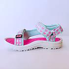 Бирюзовые спортивные сандалии от EeBb девочкам, р. 28, стелька 17,5 см, фото 3