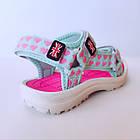 Бирюзовые спортивные сандалии от EeBb девочкам, р. 28, стелька 17,5 см, фото 5
