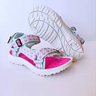 Бирюзовые спортивные сандалии от EeBb девочкам, р. 28, стелька 17,5 см, фото 8
