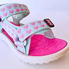 Бирюзовые спортивные сандалии от EeBb девочкам, р. 28, стелька 17,5 см, фото 7