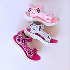 Бирюзовые спортивные сандалии от EeBb девочкам, р. 28, стелька 17,5 см, фото 9