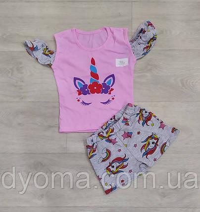 """Дитячий літній костюм """"Єдиноріг"""" для дівчаток, фото 2"""