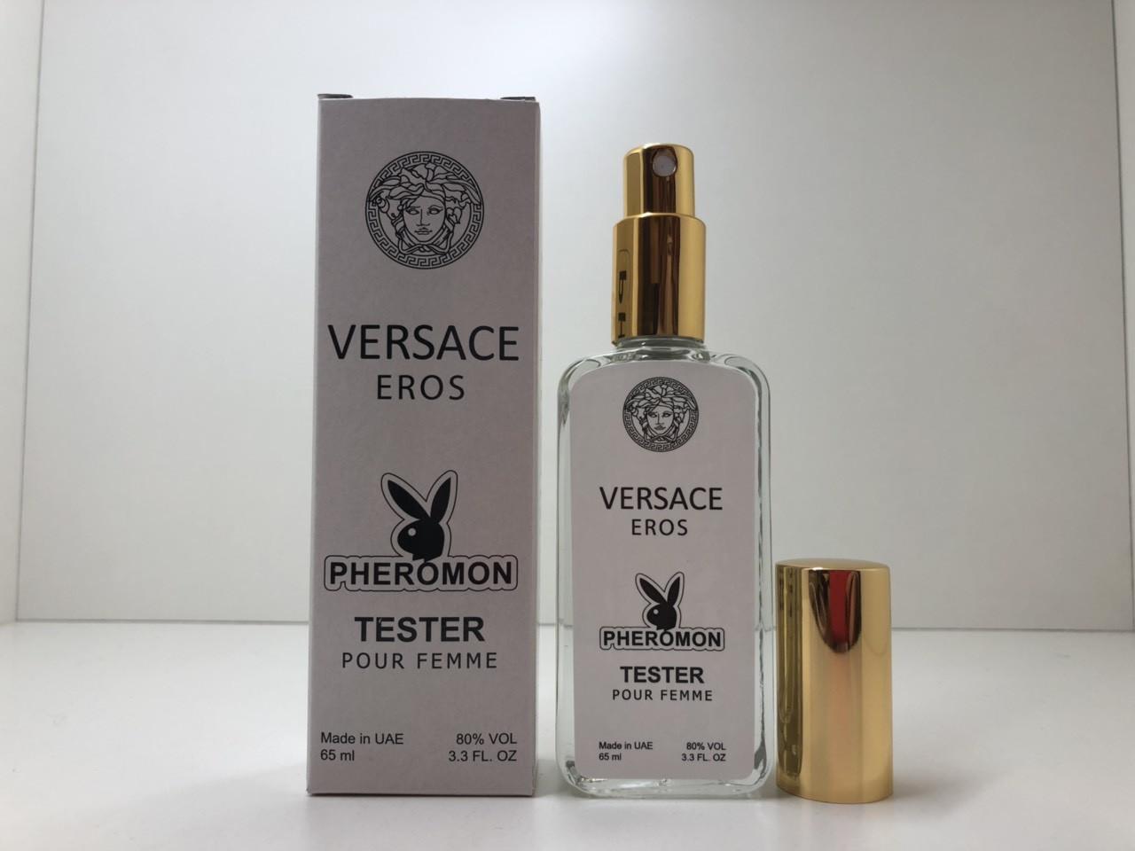 Женская туалетная вода Versace Eros Pour Femme  тестер с феромонами 65 мл ОАЭ (реплика)