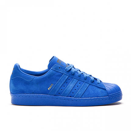 "Кроссовки Adidas Superstar Paris ""Синие"", фото 2"