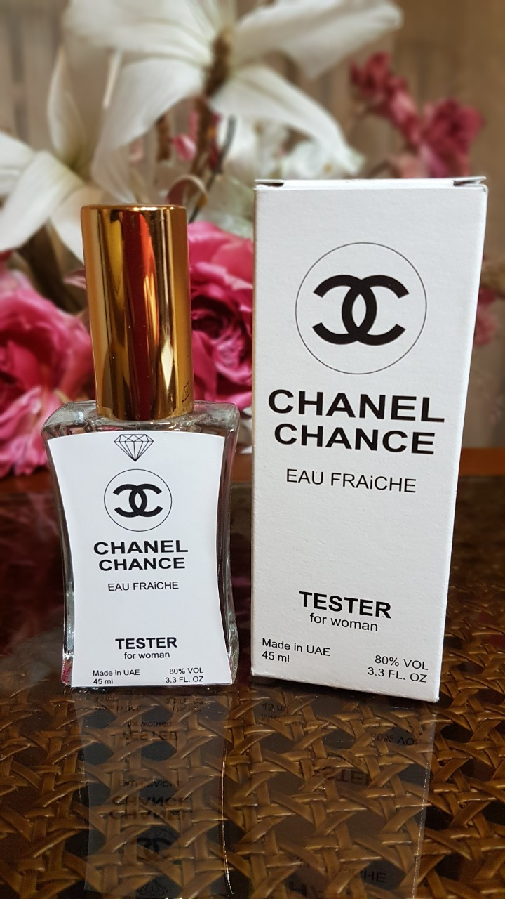 Женский парфюм Chanel Chance Eeau fraiche (шанель шанс фрэш) тестер 45 ml Diamond ОАЭ (реплика)