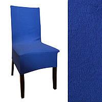 Чохол на стілець з фактурної смугою Синій, фото 1