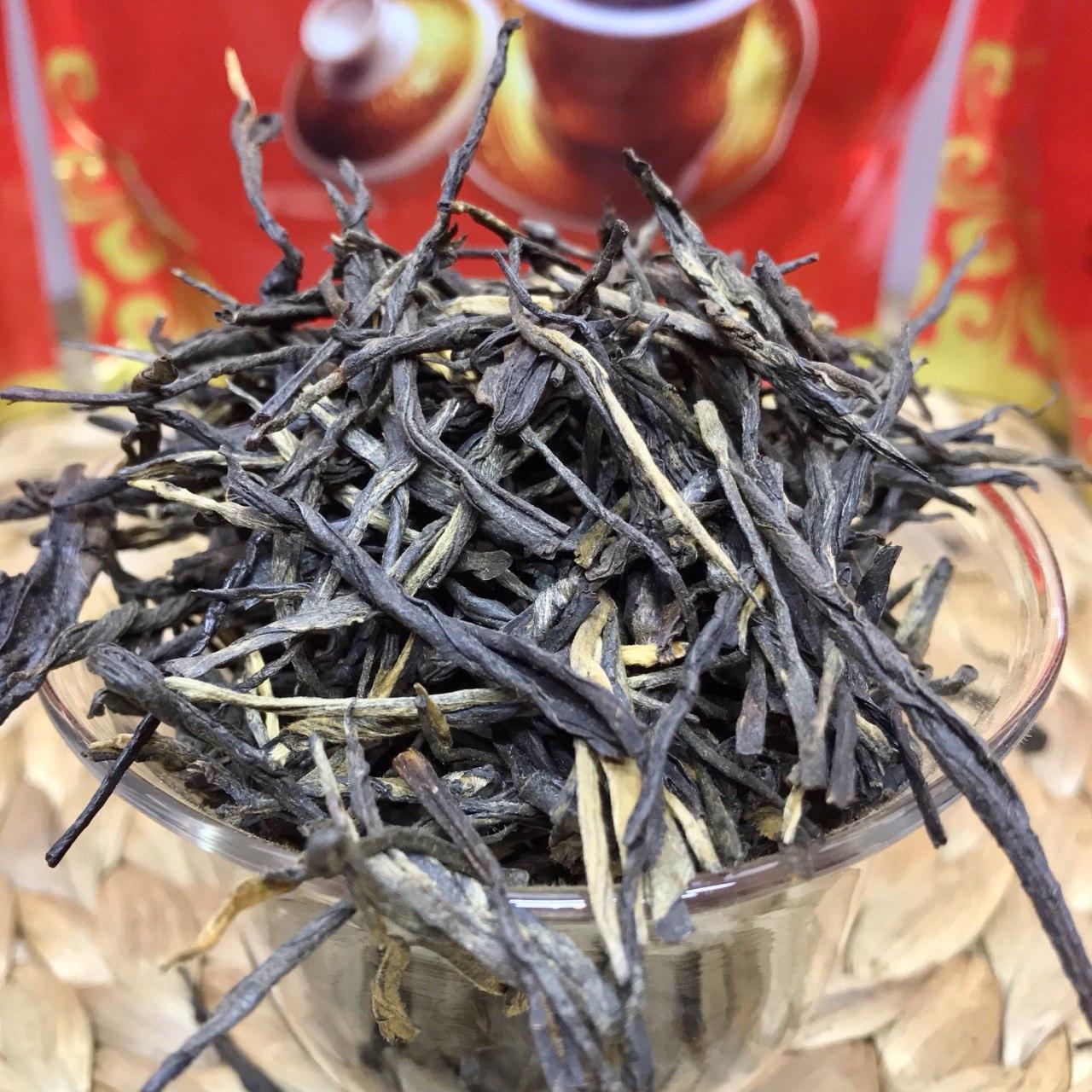 Элитный чай красный(черный) Сосновые иглы (СУН ЧЖЭНЬ) сорт Дянь Хун 100 грамм