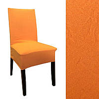 Чехол на стул фактурная полоса Оранж