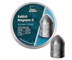 Пули для пневматического оружия H&N Rabbit Magnum II 5,5 мм, 1.64г, 200шт/уп