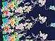 Гуччи принт цветочный купон, темно-синий, фото 3