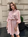 Жіноче літнє плаття льон на гудзиках з кулісою (в кольорах), фото 5