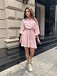 Жіноче літнє плаття льон на гудзиках з кулісою (в кольорах), фото 6