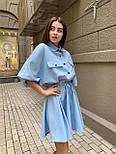 Жіноче літнє плаття льон на гудзиках з кулісою (в кольорах), фото 8